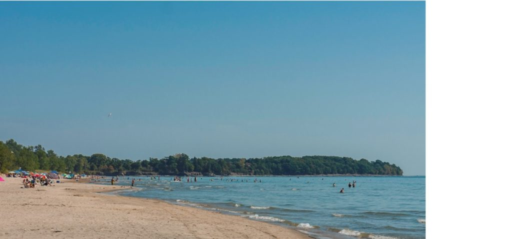 Photo shows Outlet Beach at Sandbanks Provincial Park