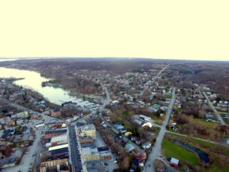Picton Harbour aerial view showing re-development potential