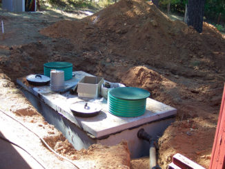 Buying a rural home septic tank installation