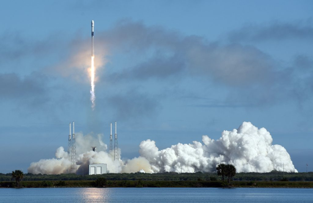 Image shows Spacex launch of Starlink satellites for high-speed internet service now in beta test in the County.