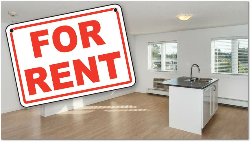 Picture illustrates an apartment for rent.