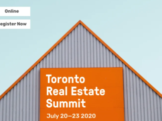 Image advertises the free online Toronto Real Estate Summit which will take place July 20-23rd, 2020.