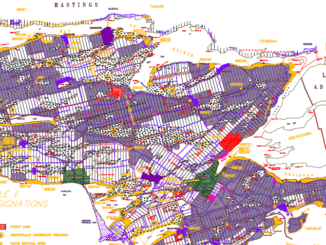 Image shows the land use schedule from the Prince Edward County Official Plan