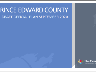 Image shows cover of Prince Edward County's draft Official Plan dated September 2020.