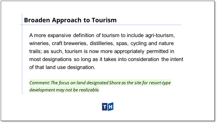 Image shows the broadened approach to tourism in Prince Edward County's new official plan