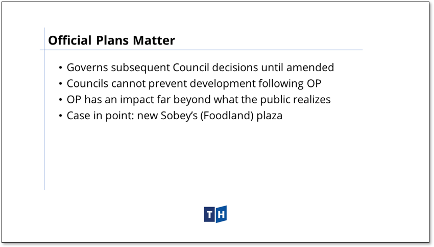 Image describes the potential impact of Prince Edward County's new official plan