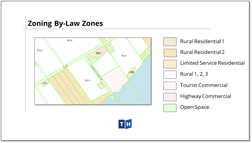 Image shows zoning approach in Prince Edward County's new official plan