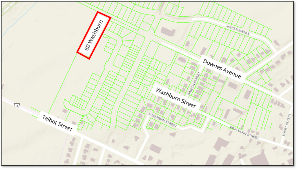 Map shows expansion of Talbot Ridge development proposed for 60 Washburn Street in Picton.