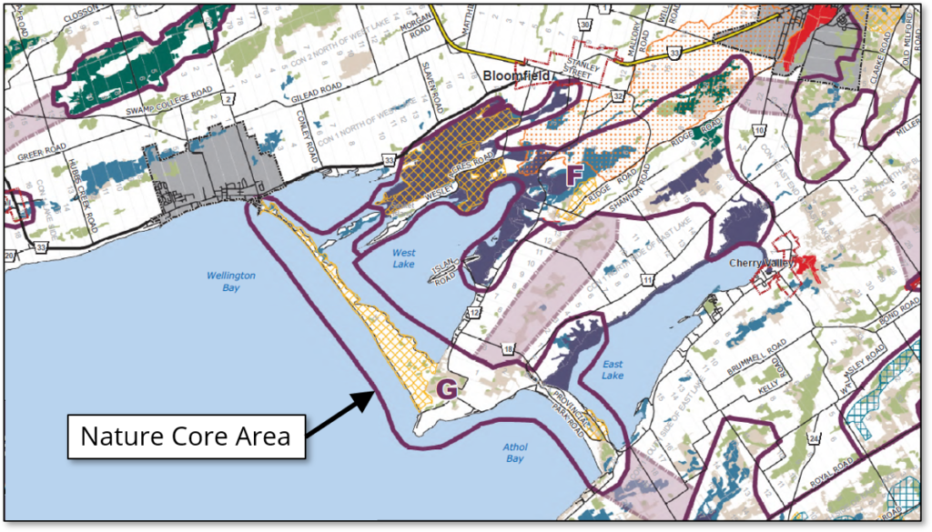 Chart from 2021 Official Plan shows how most of the area around Sandbanks Provincial Park is designated as a ...</div></li><li ><a href=
